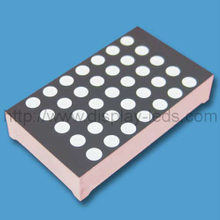 1.2 inch 5x7 dual color LED dot matrix