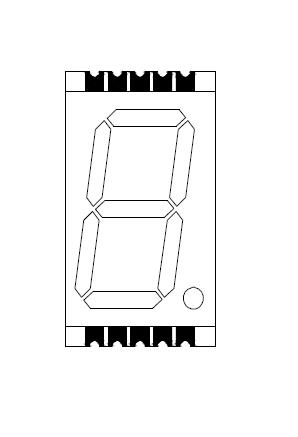 0.8 Inch Fout Digit 7 segment SMD Display with Gray face