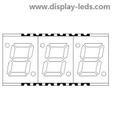 0.28 Inch three Digit 7 Segment SMD Display