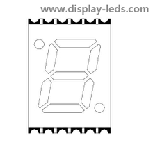 0.28 Inch Single Digit 7 Segment SMD Display